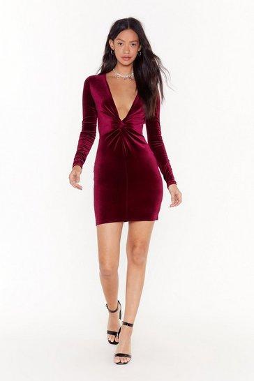 V There Soon Velvet Mini Dress