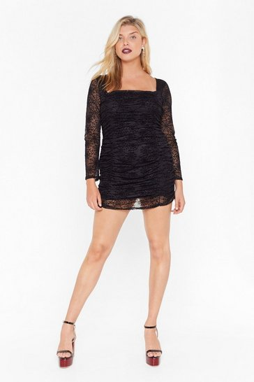 Womens Call Me Black Widow Plus Mini Dress
