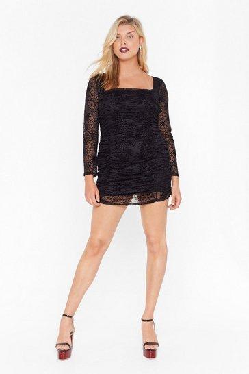 Call Me Black Widow Plus Mini Dress