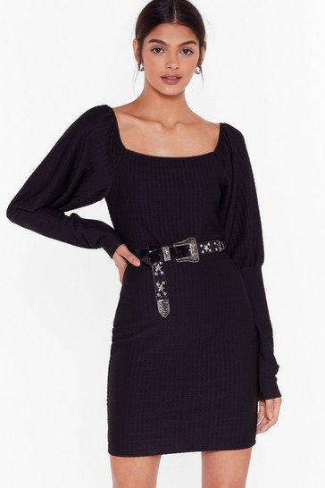 Black Nasty Gal Studio Tainted Love Mini Dress