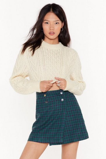 Cream Nasty Gal Vintage Tell Like Knit Like Knit is Sweater