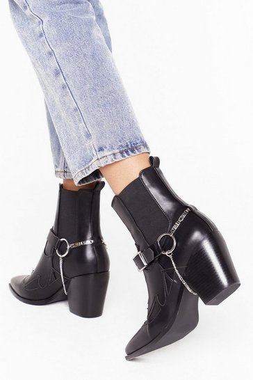 Black Stirrup and At 'Em Western Boots