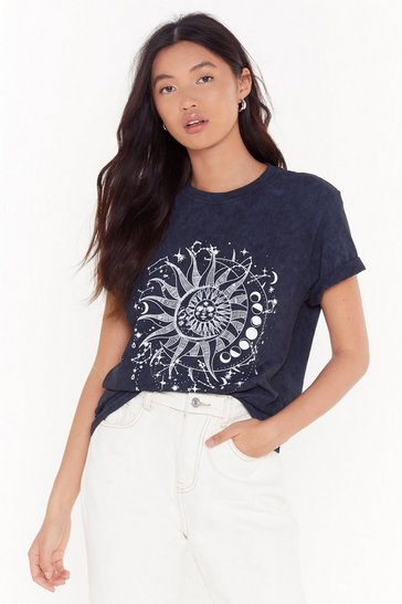 Black When Stars Collide Sun and Mood Graphic Tee