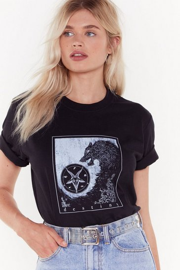 Womens Black Make Your Destiny Graphic Tee