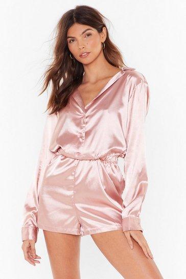 Rose The Sleepover Club Satin Pajama Romper