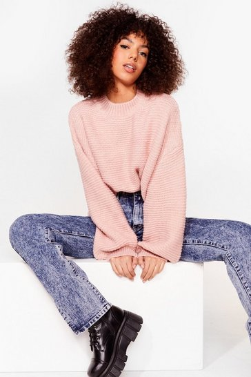 Pink Do You Be-Sleeve Relaxed Sweater