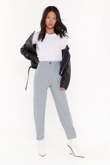 Womens Black We Don't Bite Tapered Pants