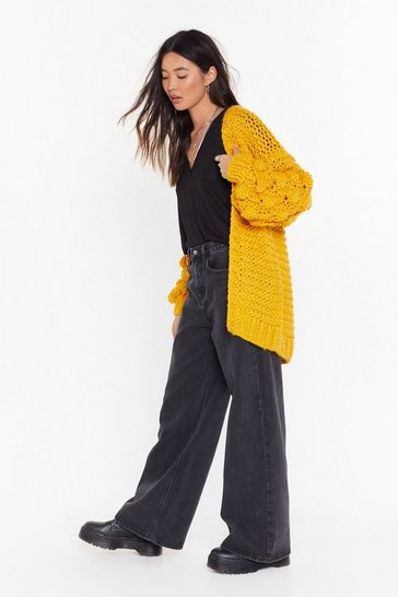 Womens Mustard Knit's Not Unusual Chunky Cardigan