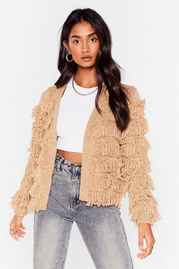 Stone Gimme More Shaggy Cardigan