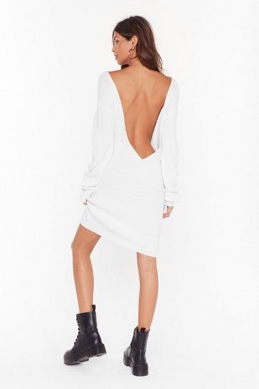 Womens Cream Laid Back and Low Key Longline Sweater