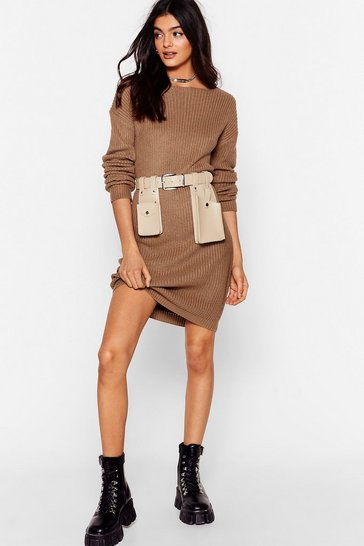 Mocha Laid Back and Low Key Longline Sweater