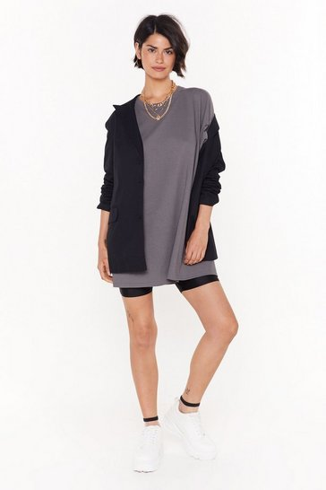 Womens Charcoal Easy Does It Tee Dress