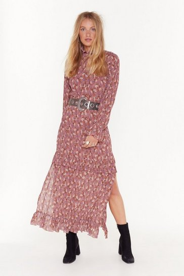 Nude Don't Grow Without Me Floral Maxi Dress