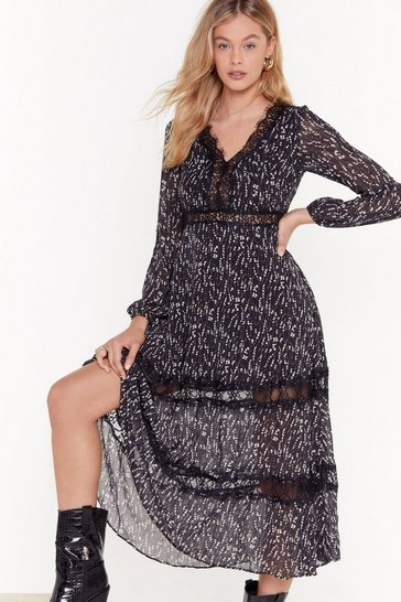 Womens Black Here's to the Weekend Floral Maxi Dress