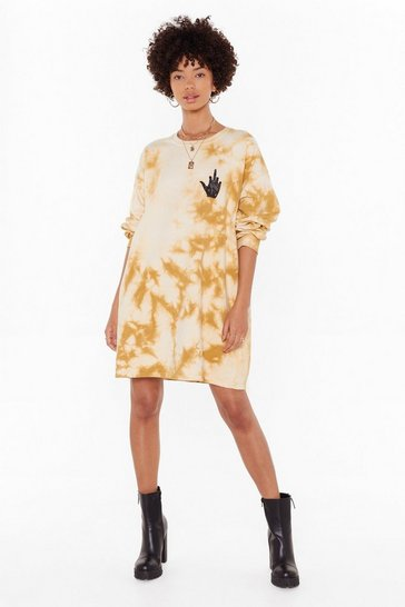 Womens Mustard Read You Like a Book Mystic Graphic Dress