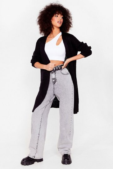 Black Knit Ain't Over Longline Cardigan