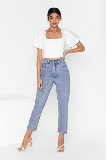 Womens Light blue Shouldn't Have Shred It Distressed Denim Jeans