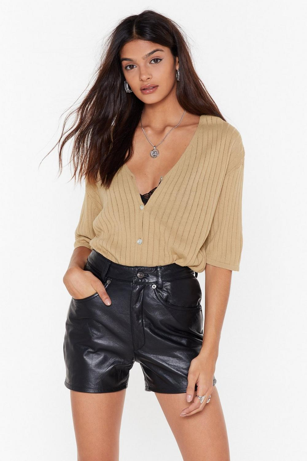 Can't V Friends Ribbed Cardigan by Nasty Gal