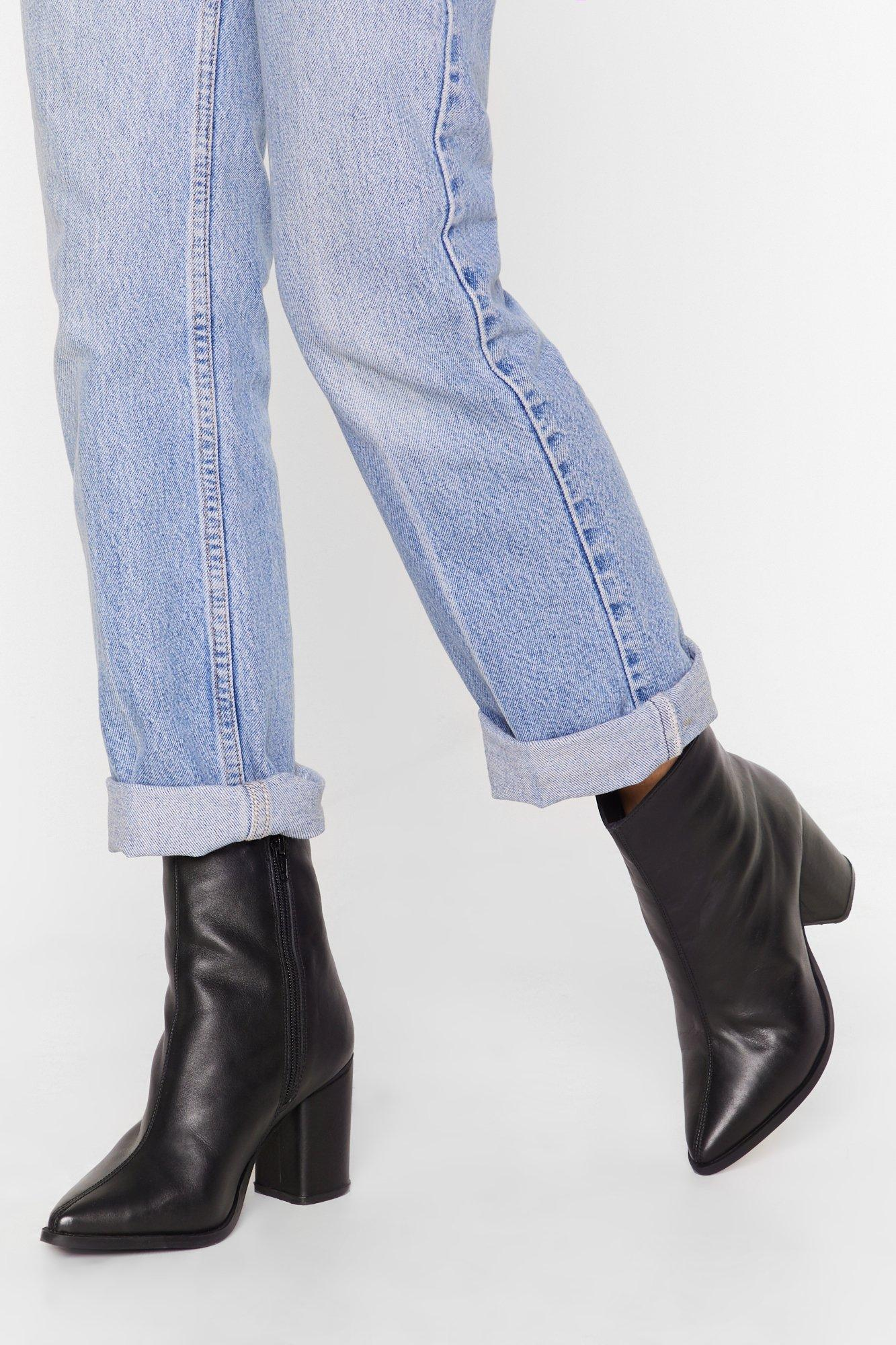 Cheap Leather Ankle Boots