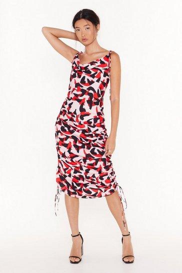 Pink So Bold Abstract Midi Dress