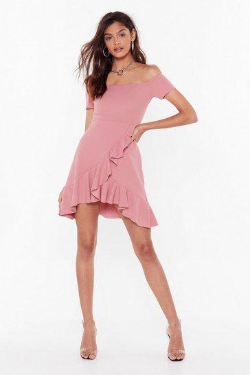Blush Show Me Off-the-Shoulder Mini Dress