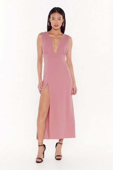 Womens Blush Deep on Dancing Midi Dress