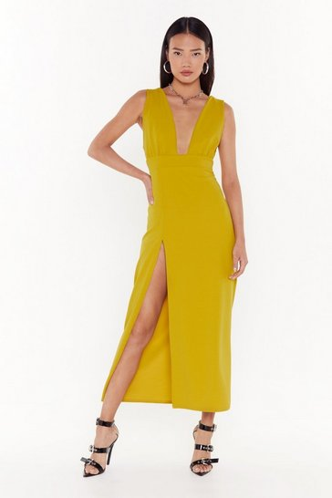 Womens Gold Deep on Dancing Midi Dress