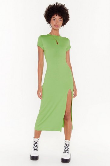 Womens Green Maxed Out Maxi Dress