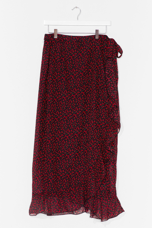 A Floral Filler Plus Wrap Skirt 8