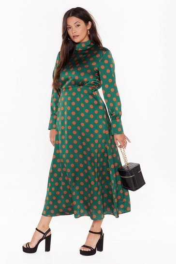 Womens Dark green Just in Case You For-Dot Plus Maxi Dress