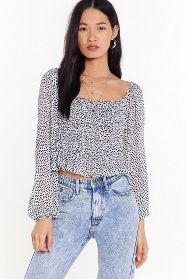 Womens White Hearts Lie Square Neck Top