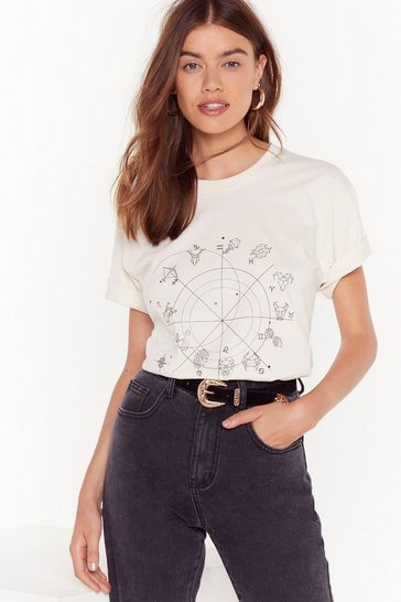 Womens Natural Off the Charts Horoscope Graphic Tee