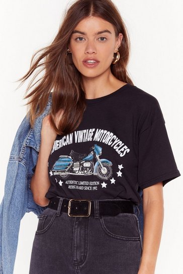 Womens Black Thing for Motorcycles Graphic Tee