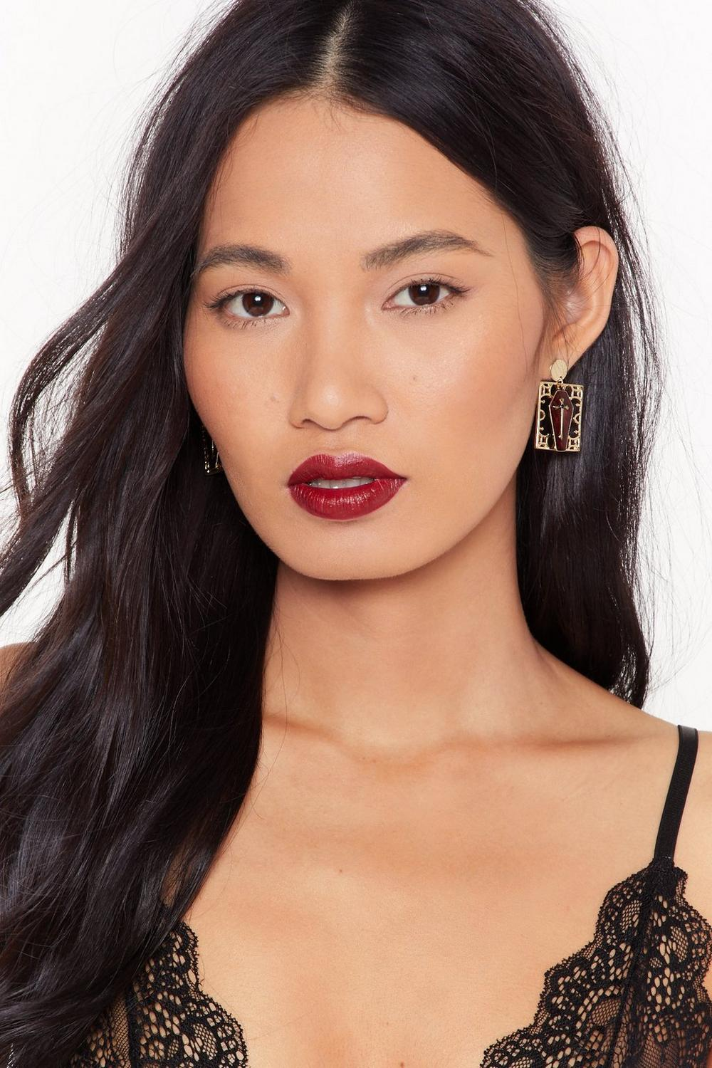 The Final Nail In The Coffin Drop Earrings by Nasty Gal