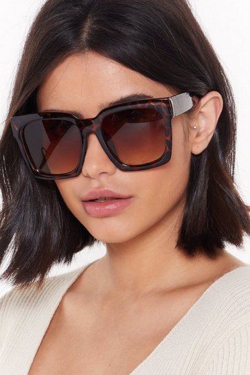 Lost My Train of Tort Oversized Square Sunglasses