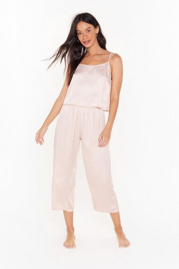 Womens Nude Wild Nights Jacquard Cami Pajama Set