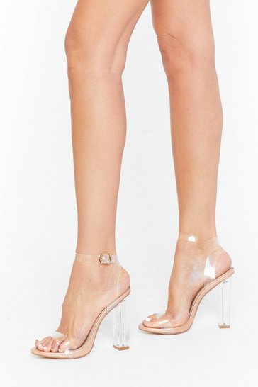 Womens Rose gold Let's Be Clear Metallic Perspex Heels