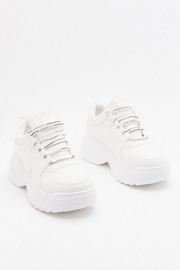 Womens White Be a Good Sport Chunky Trainers