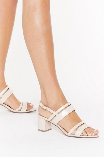 Womens Nude Oh Strappy Days Faux Leather Sandals