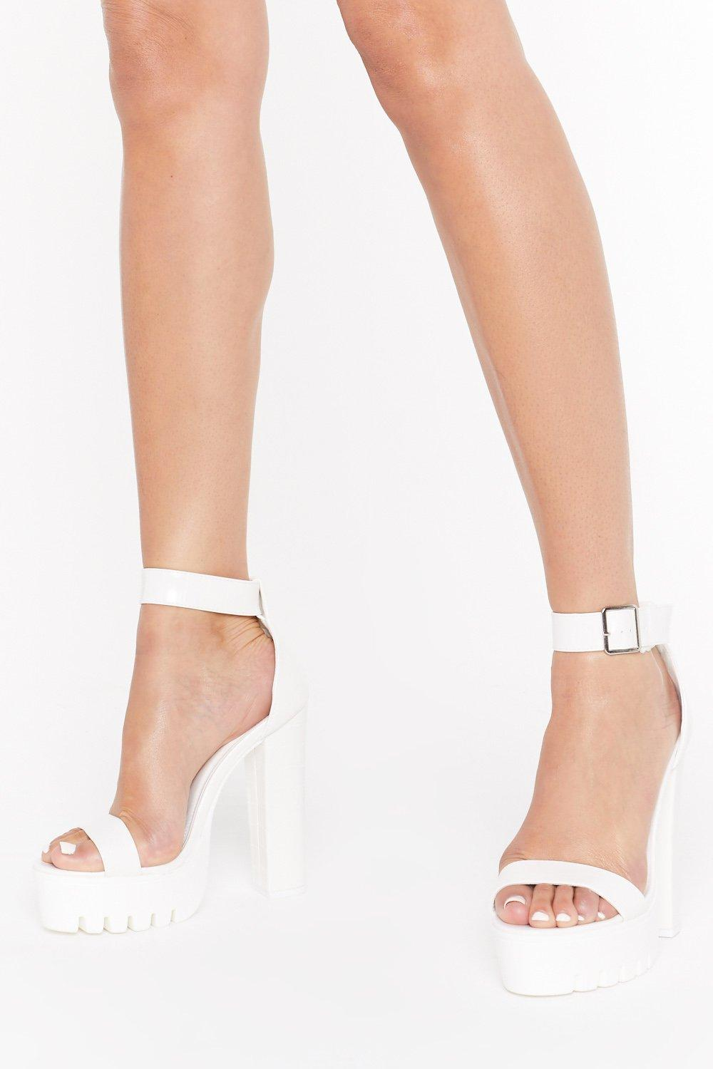 Livin' The Croc Star Life Faux Leather Platform Heels by Nasty Gal