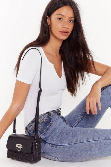 Black WANT Basket It Up Shoulder Bag
