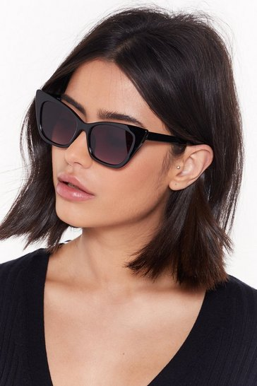 Womens Black No Pictures Pur-lease Cat-Eye Sunglasses