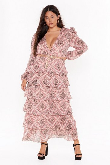 Nude Paisley It Forward Tiered Maxi Dress