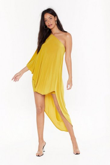 Chartreuse Superwoman Double Layer Dress