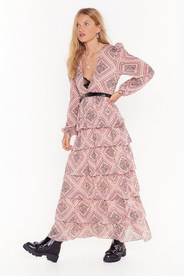 Womens Nude Paisley It Forward Plus Maxi Dress
