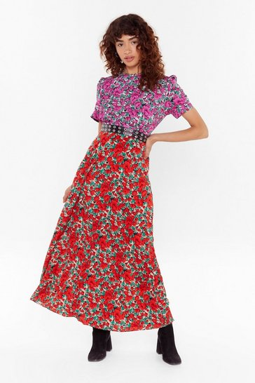 Black Bloom Bloom Pow Floral Maxi Dress