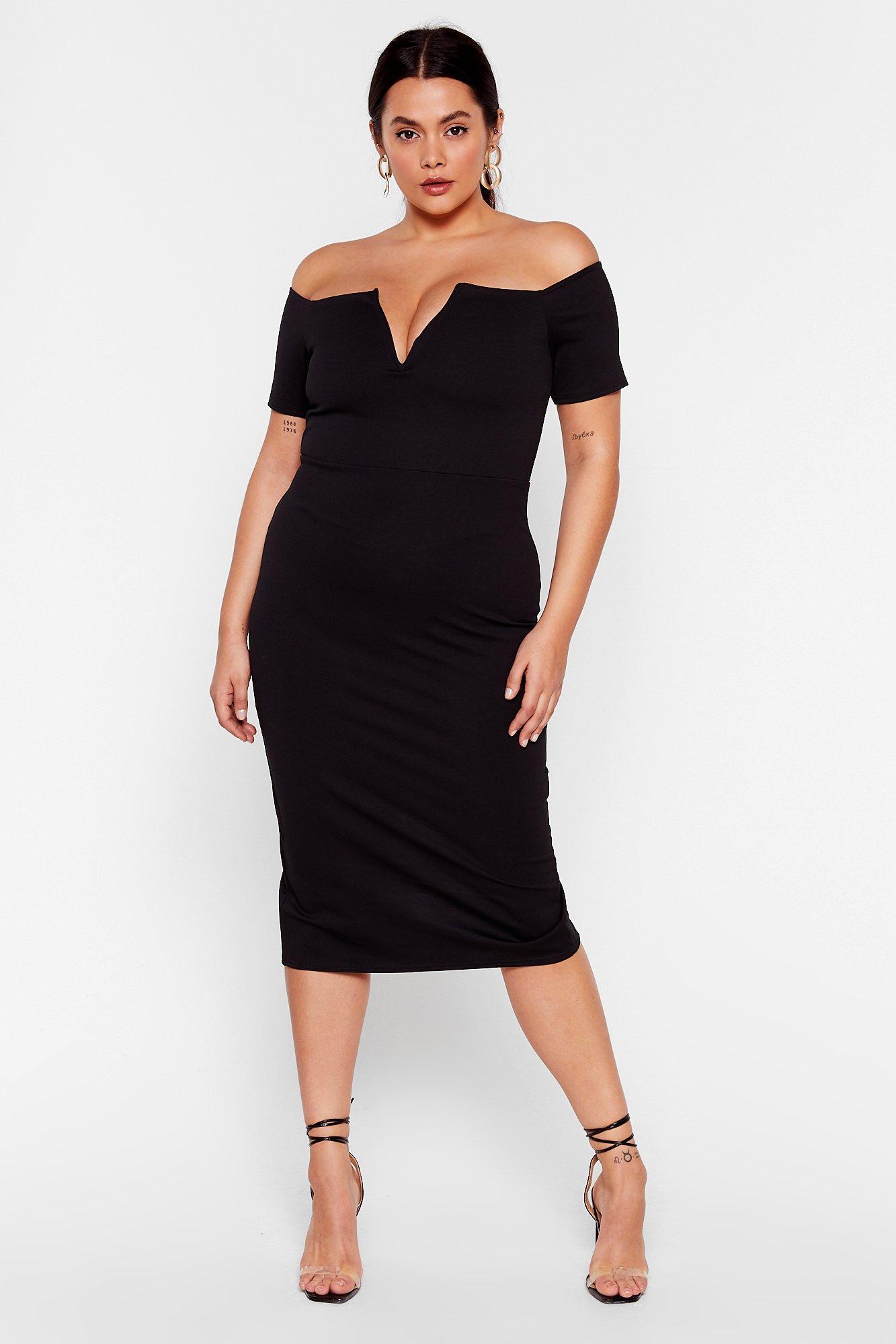 Let 'Em V You Plus Midi Dress 6