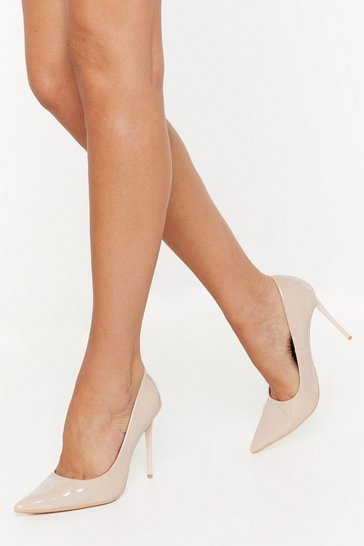 Womens Nude Patent Patiently Stiletto Court Heels