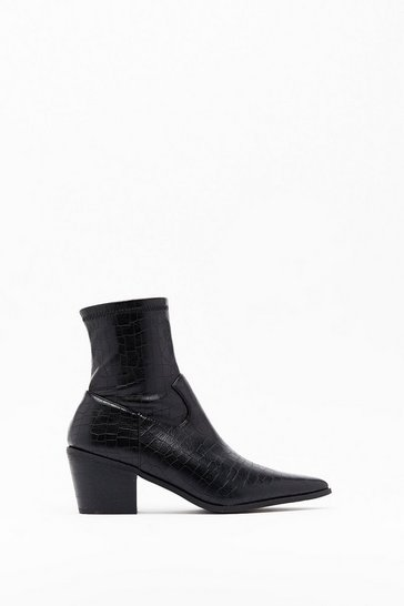 Black Lay Low Western Sock Boots
