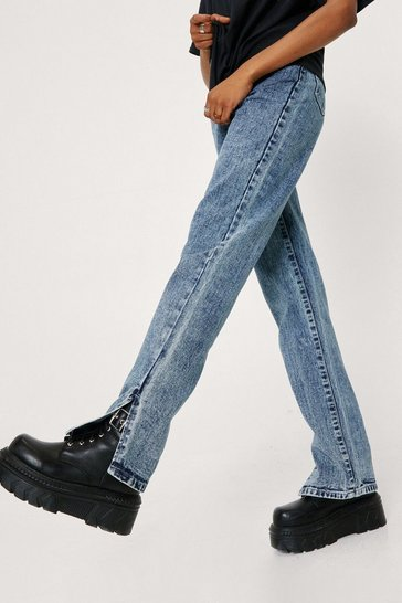 Acid wash dark blue Slit's Now or Never Jeans